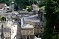 Photo:  Salzburg Festspielhauskomplex vom Mönchsberg by Andreas Praefcke