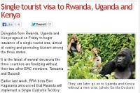 Руанда, Уганда и Кения вводят единую визу